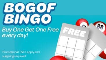 BOGOF bingo at Sun Bingo