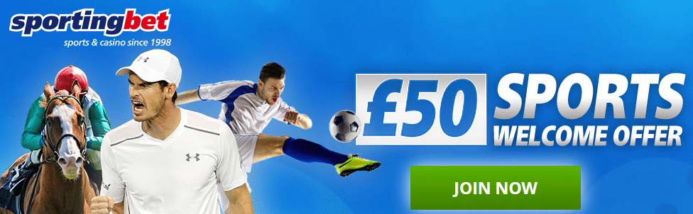 £50 sports welcome bonus