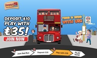 Enter Promotion Code BIG for Red Bus Bingo
