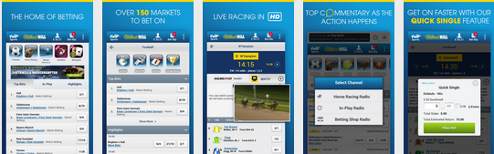William hill Bets on mobile site