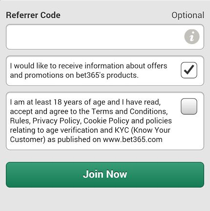 bet365 screen capture mobile