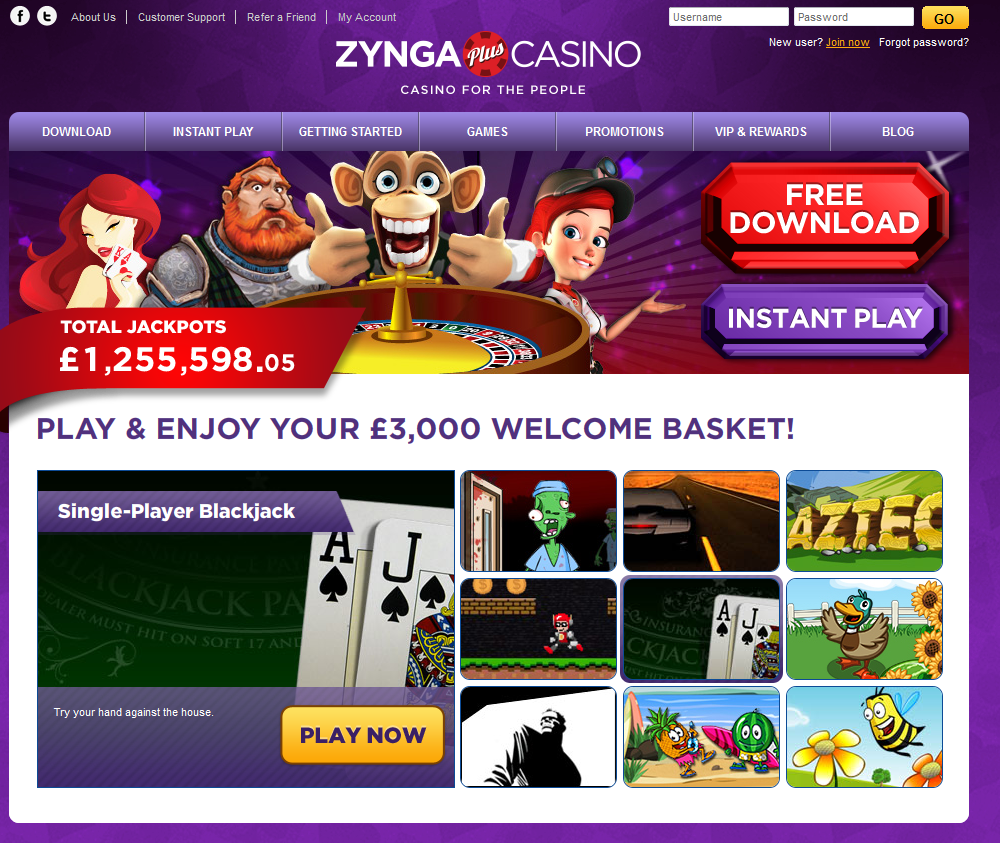 zynga casino games