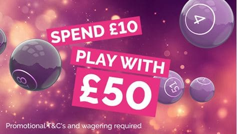 Spend £10 Play with £50