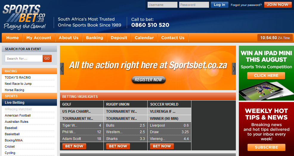 sportsbet south africa
