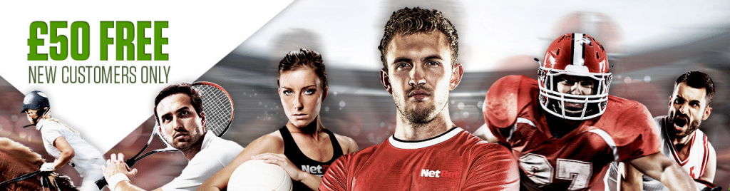 NetBet sports bonus up to £50 free