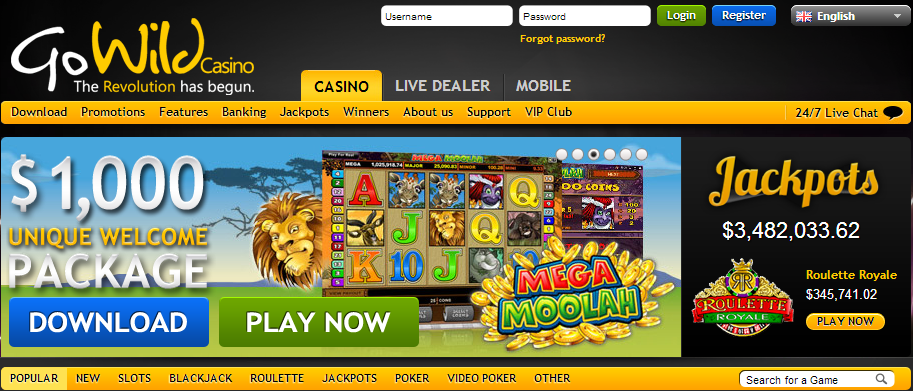 go wild casino loyalty points