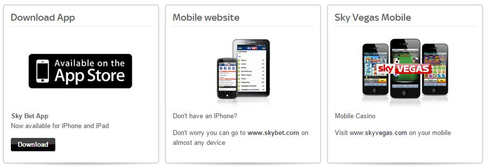 Skybet mobile banner
