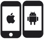 Iphone and Android Icons