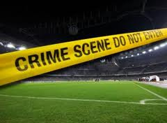 crime scene tape on pitch