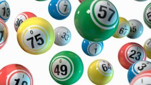 Lottery multi-coloured balls illustration