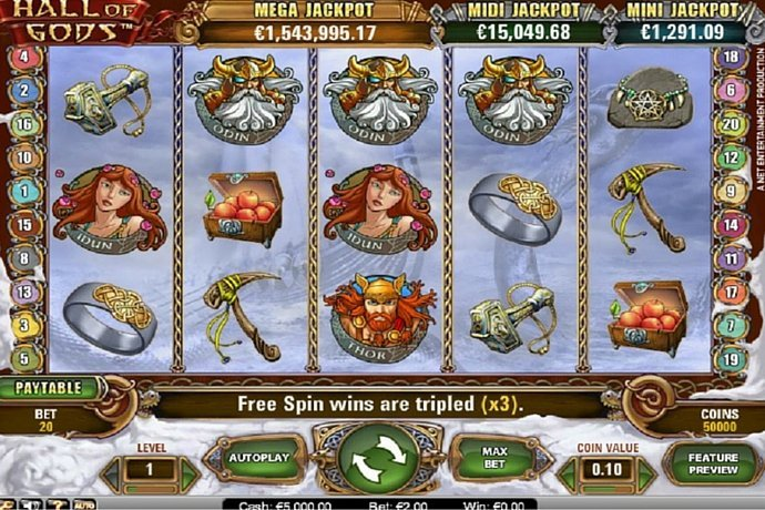 Hall of Gods Slot Machine – Free version