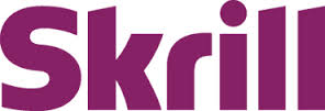 skrill logo with purple letters and white background