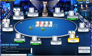 screenshot of online poker