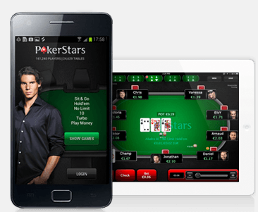 Mobile app for Poker stars