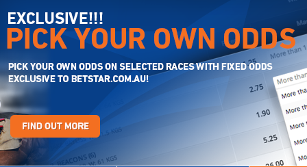 Pick your own odds betstar