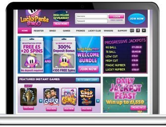 Lucky Pants Bingo Promo Code 2020: Enter LUCKYMAX