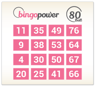 80 Ball Bingo Example