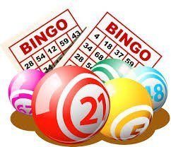 Bingo balls and cards