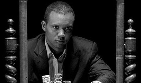 Phil Ivey black and white photo
