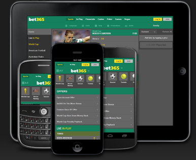Bet365 on Mobile