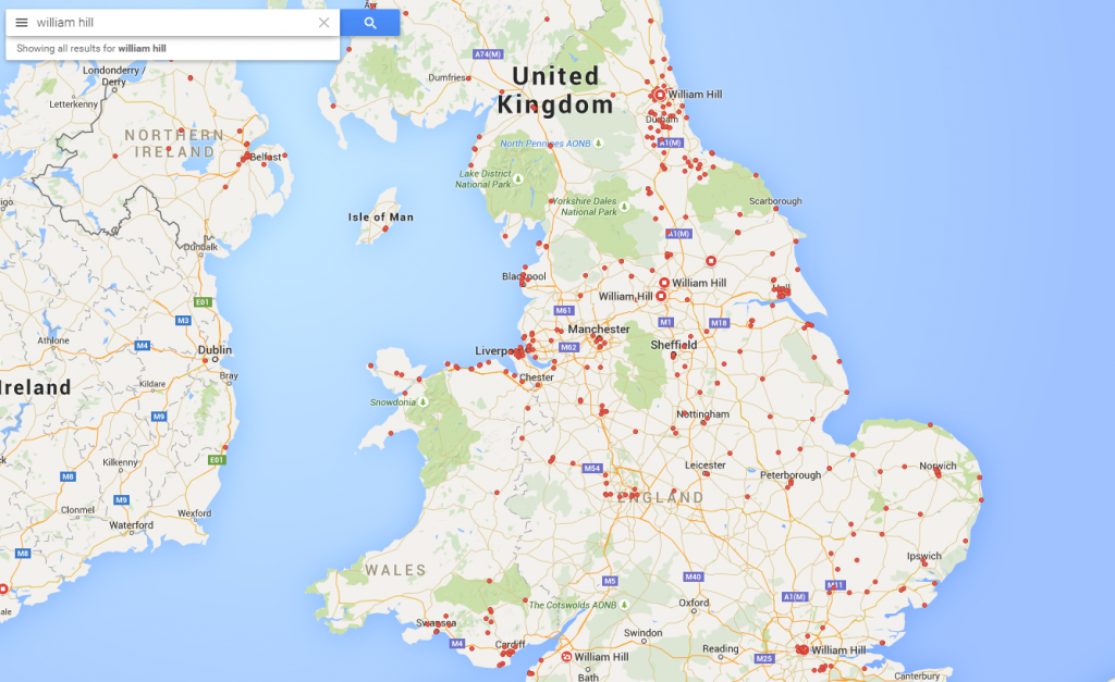 WH UK map