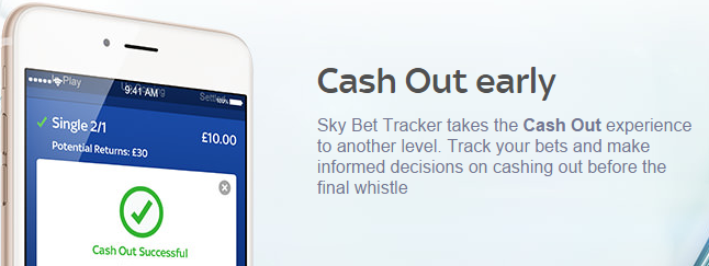 Cash-out, Sky Bet Screenshot