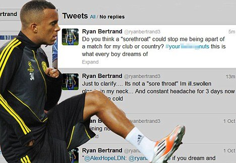 Ryan Bertrand Tweet