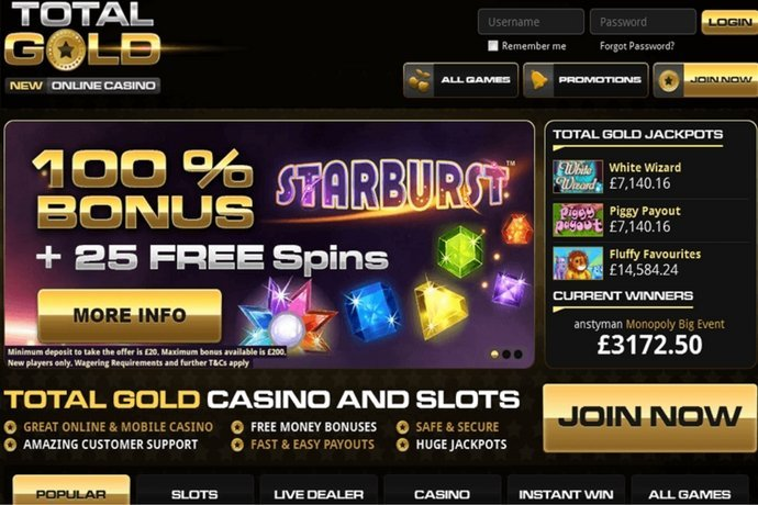 total gold casino promo code