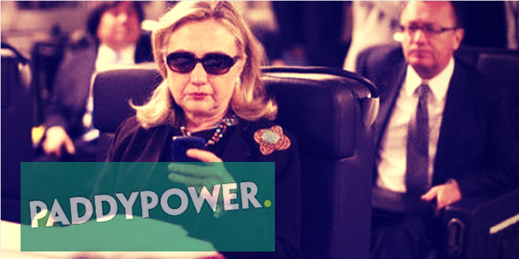 Paddy Power- Hilary Clinton