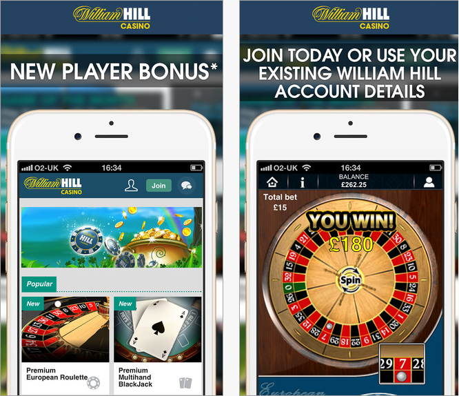 Here is the casino app screenshot