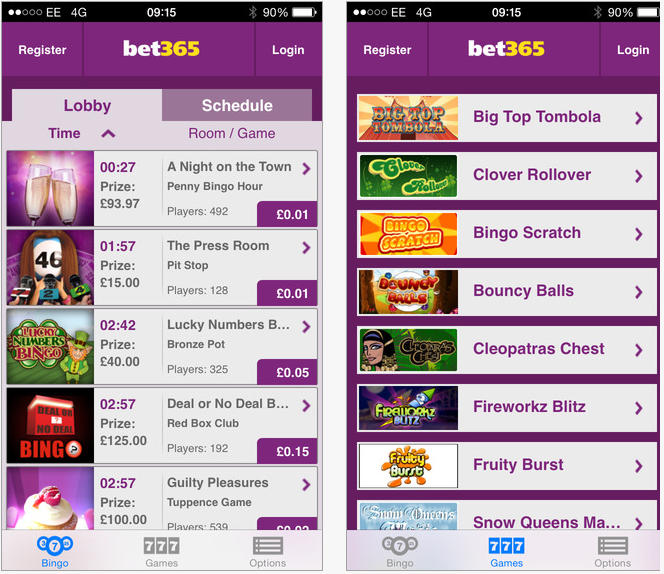 bet365 bingo mobile app