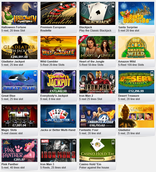 Here are some examples of the Slots games