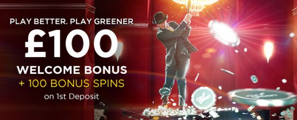 mr green £100 welcome bonus