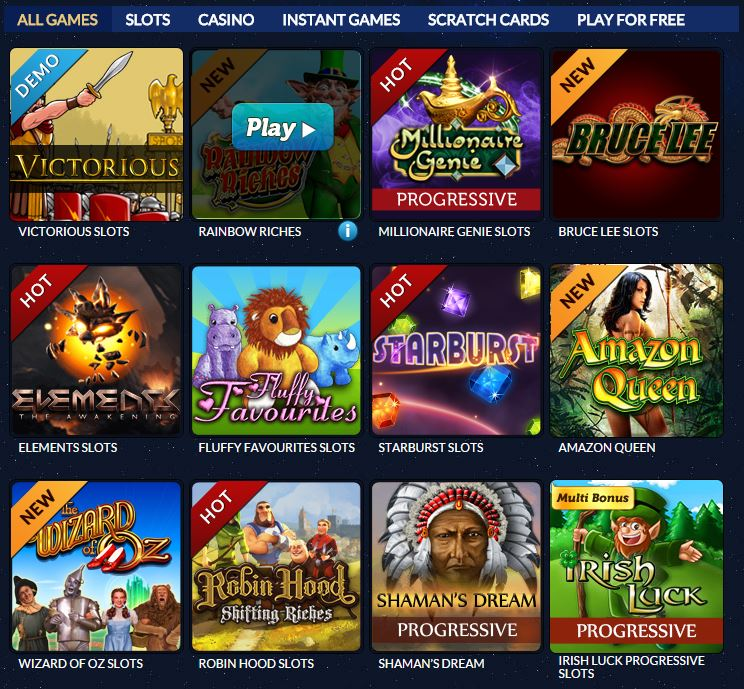 Here are some of the available games