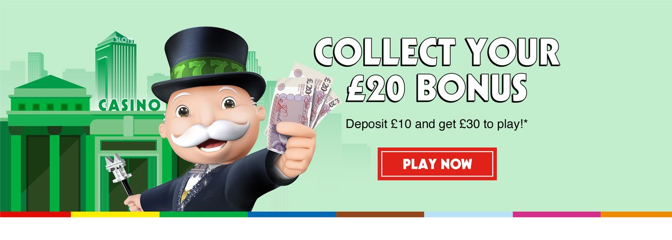 monopoly casino welcome bonus