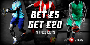 BetStars welcome offer: £30 in Free Bets
