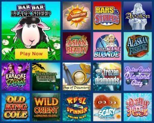 casino of dreams selection of slots screenshot