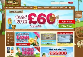 Robin Hood Bingo Promo Code: Up to £1,000 for new players