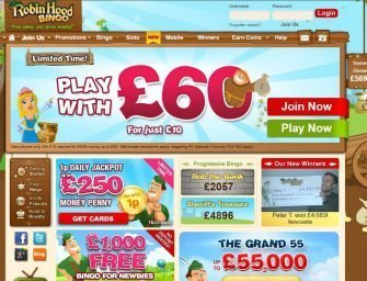 Robin Hood Bingo Promo Code: Hot promotions for new players