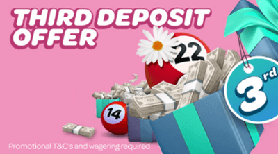 third deposit offer Sun Bingo