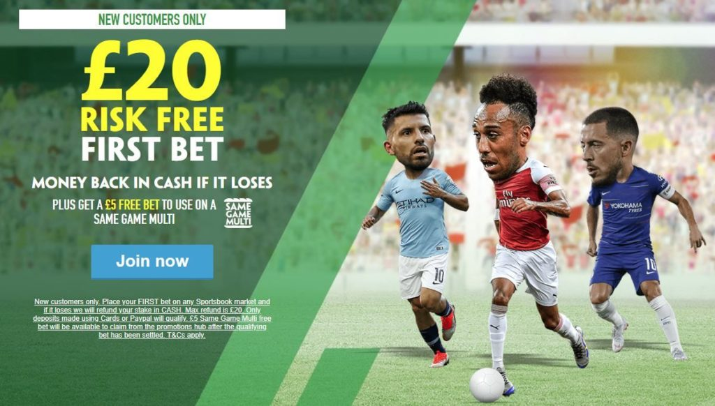 Paddy Power sports welcome offer