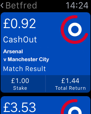 Betfred mobile cashout