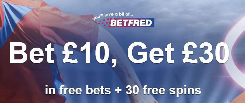 Sports offer at Betfred