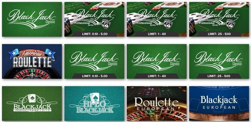 Pots of Luck table games