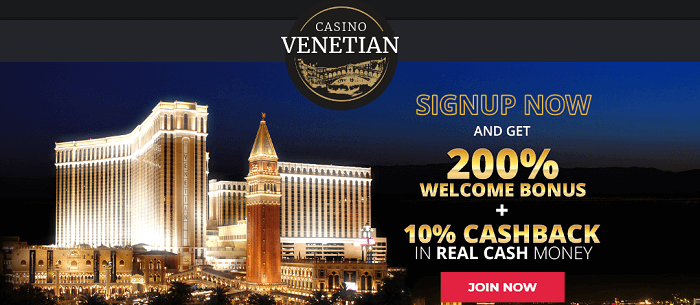 welcome offer Casino Venetian