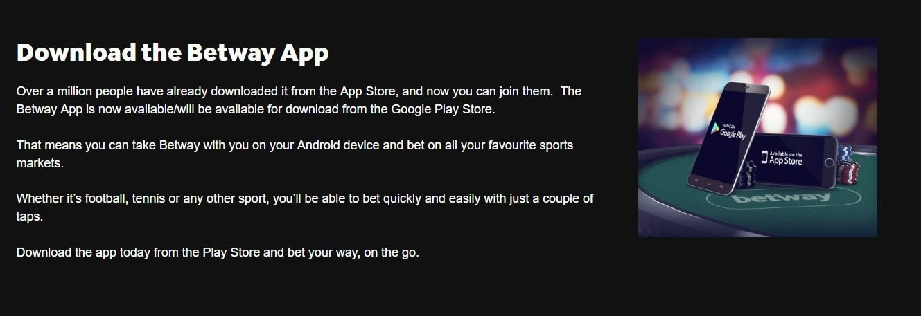 BETWAY MOBILE APPLICATIONS