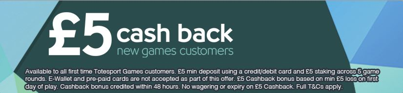 Totesport games offer