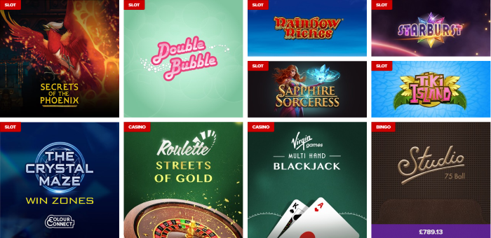 Virgin Games Online Slots