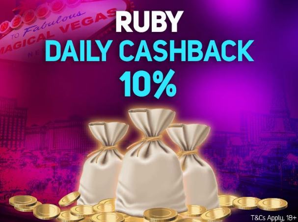 How to claim the Ruby daily cashback offer